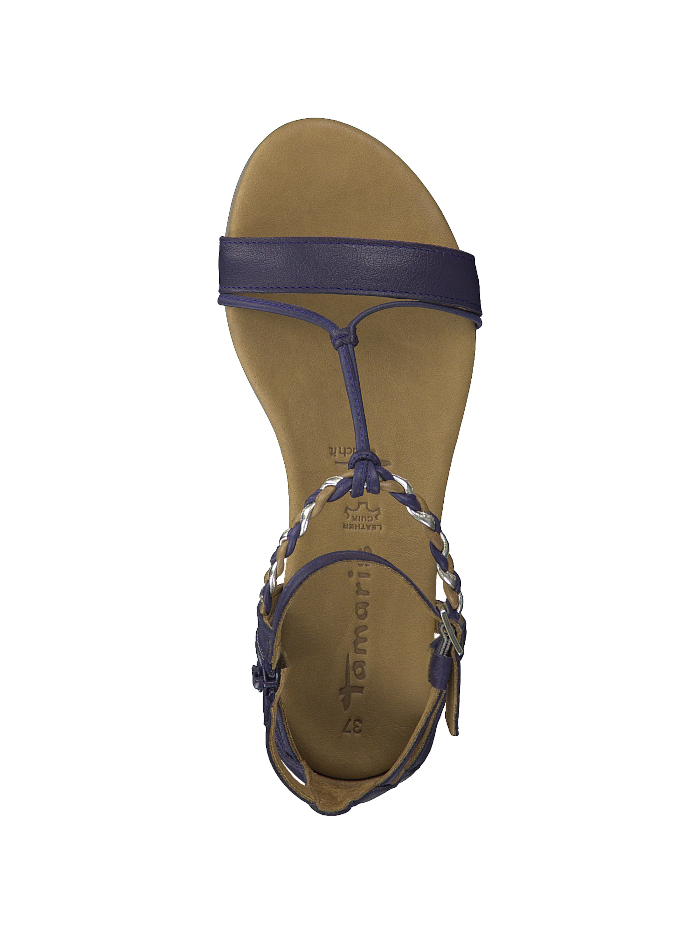 Sandale In Violettblau In BraunGold BraunGold Tamaris Sandale Tamaris Violettblau TXPikOZu