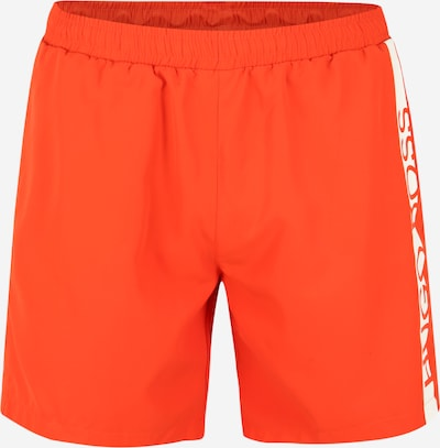 BOSS Badeshorts 'Dolphin' in orange / weiß, Produktansicht