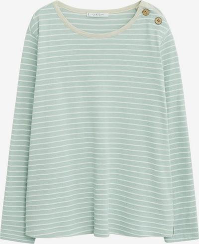 VIOLETA by Mango Shirt in de kleur Pastelblauw / Wit, Productweergave