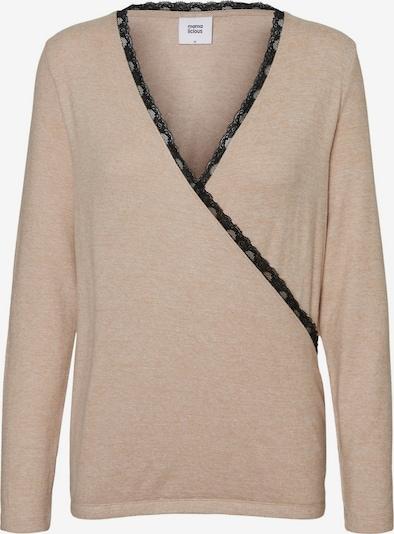 MAMALICIOUS Shirt in de kleur Beige, Productweergave