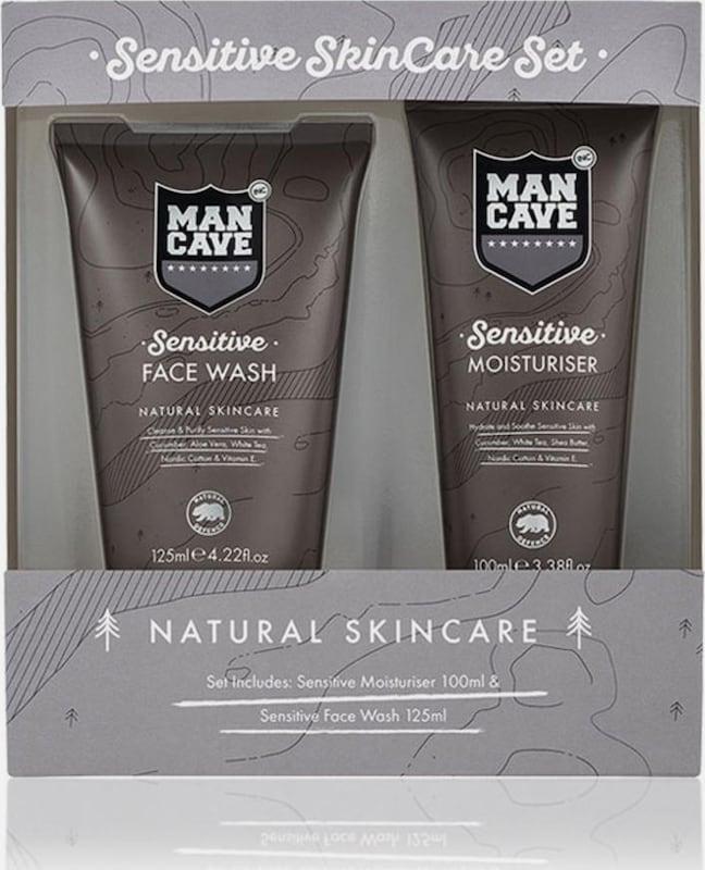 ManCave 'Sensitive Skincare Set', Gesichtspflegeset für empfindliche Männerhaut (2-tlg.)