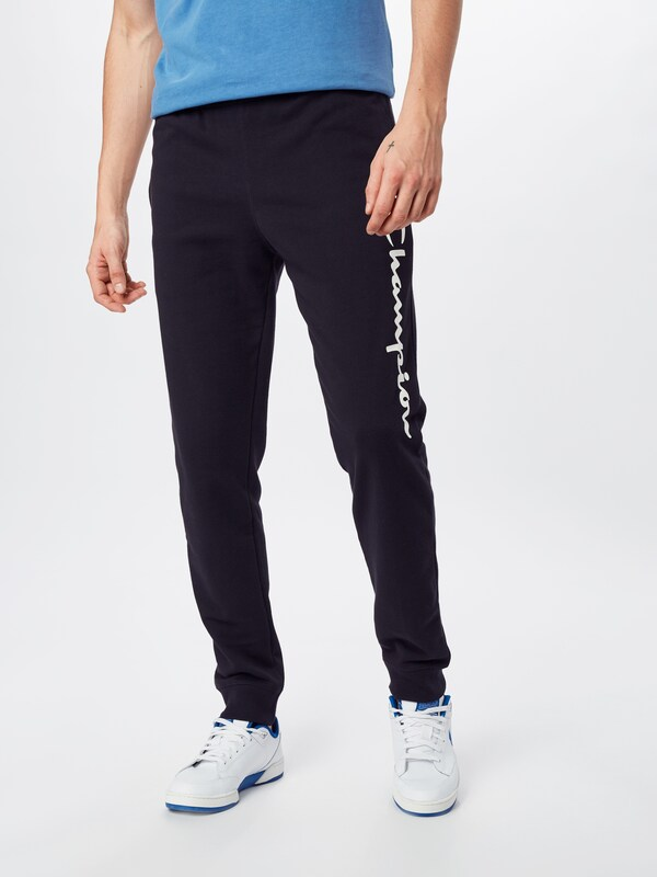Champion Authentic Athletic Apparel Hose 'RIB CUFF PANTS' in schwarz, Modelansicht