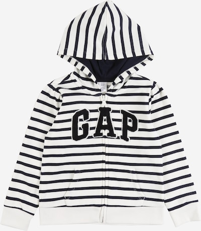 GAP Sweatjacke in navy / weiß, Produktansicht