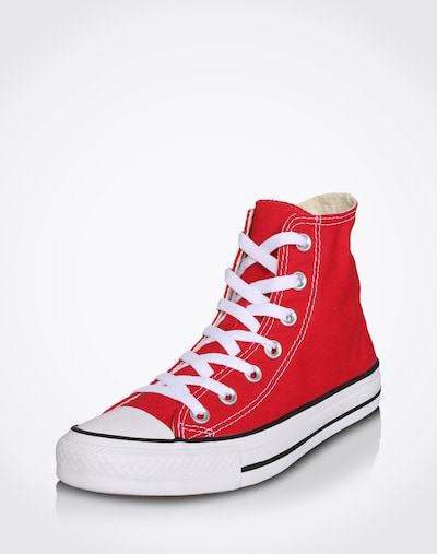 CONVERSE Sneaker High 'Chuck Taylor All Star' in rot / weiß: Frontalansicht