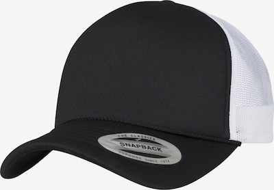 Flexfit Cap 'Foam Trucker Curved Visor' in schwarz / weiß, Produktansicht