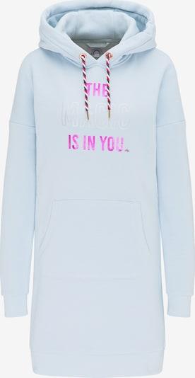 MYMO Sweatshirtkleid in hellblau / dunkelpink / silber, Produktansicht