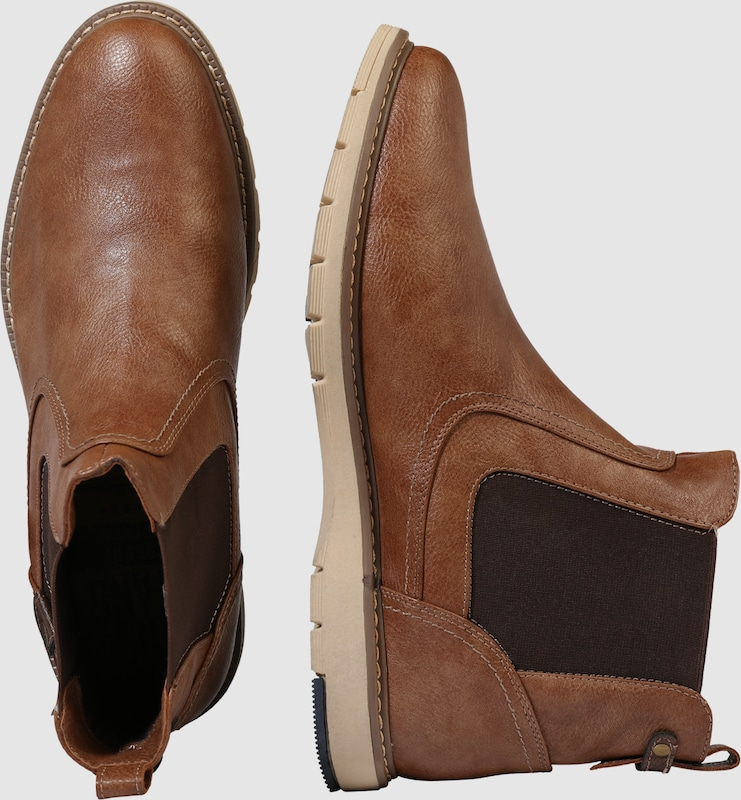 Mustang Chelsea Boot In Leather Optics
