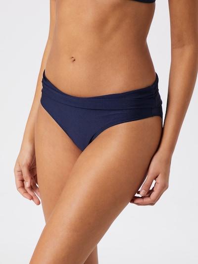 Hunkemöller Bikinihose 'Rhapsody Fold Over Rio' in dunkelblau, Modelansicht