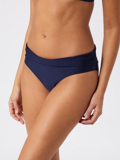 Hunkemöller Bikinibroek 'Rhapsody Fold Over Rio' in de kleur Donkerblauw, Modelweergave