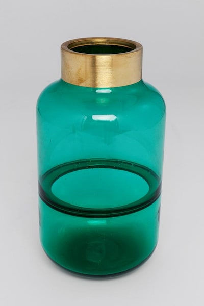 KARE Design Vase 'Positano' in gold / petrol, Produktansicht