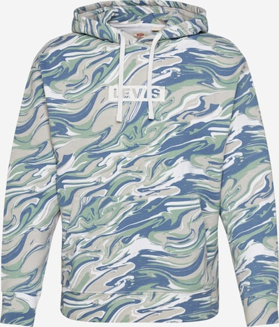 LEVI'S Sweat-shirt en beige / bleu / vert / blanc cassé, Vue avec produit
