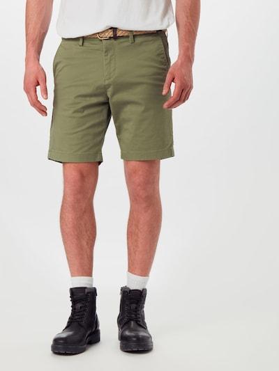 JACK & JONES Pantalon chino 'JJISUMMER JJCHINO SHORTS SA' en vert foncé, Vue avec modèle