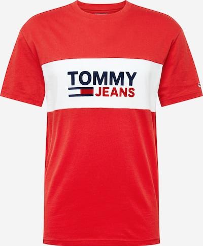 Tommy Jeans T-Shirt in blau / blutrot / weiß, Produktansicht