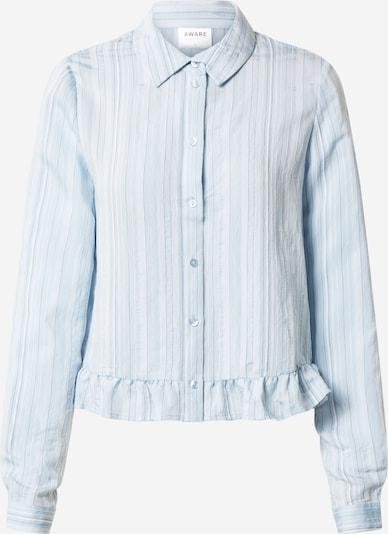 VERO MODA Bluzka 'VMKATA LS FRILL SHIRT VMA' w kolorze gołąbkowo niebieskim: Widok z przodu