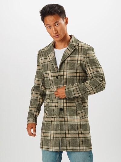 Rudeninis-žieminis paltas iš !Solid , spalva - pilka / oranžinė / juoda, Modelio vaizdas