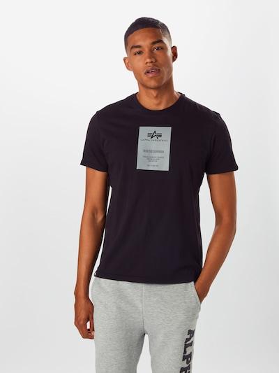ALPHA INDUSTRIES T-Shirt in schwarz: Frontalansicht