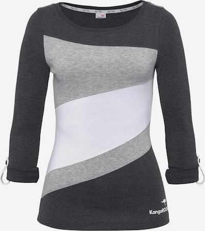 KangaROOS Longsleeve in grau / schwarz / weiß, Produktansicht