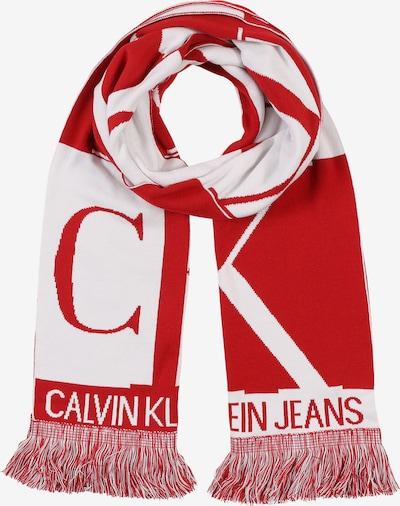 Calvin Klein Jeans Szalik 'J MIRROR MONOGRAM SCARF' w kolorze czerwony / białym, Podgląd produktu
