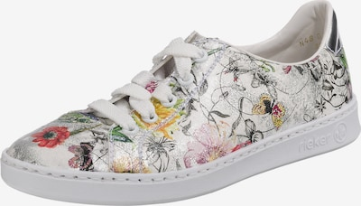 RIEKER Sneaker 'Bouquet' in mischfarben / weiß: Frontalansicht