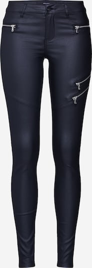 VERO MODA Hose 'VMSEVEN MR SLIM COATED ZIPPER PANTS' in schwarz, Produktansicht