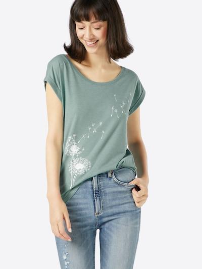 Iriedaily T-shirt en menthe / blanc, Vue avec produit