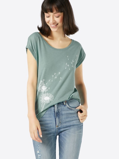 Iriedaily Print-Shirt in mint / weiß: Frontalansicht