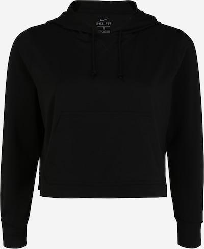 NIKE Sportska sweater majica 'W NK YOGA JERSEY CROP HD PLUS' u siva / crna, Pregled proizvoda