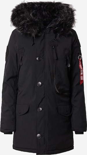 ALPHA INDUSTRIES Mantel in schwarz: Frontalansicht