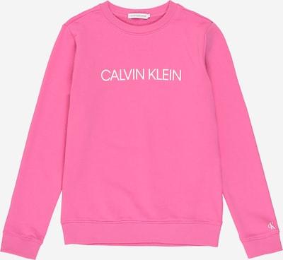 Calvin Klein Jeans Sweatshirt in pink / weiß, Produktansicht