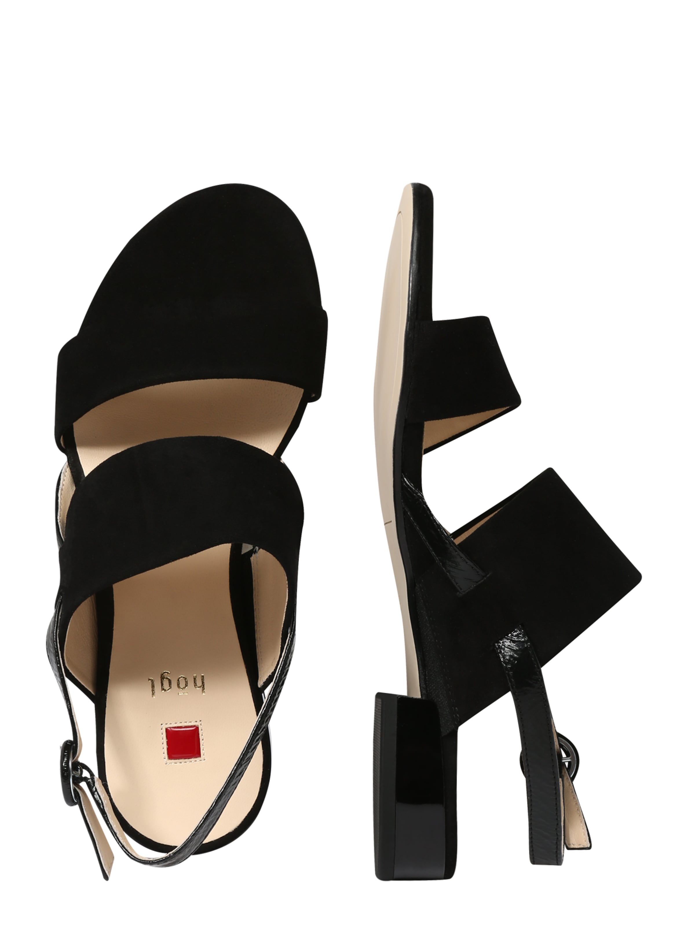 Zwart In Riem Met Velours' Högl Sandalen 'sandale jLSqMVpGzU