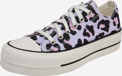 CONVERSE Sneaker 'CHUCK TAYLOR ALL STAR LIFT - OX' in lila / pink / schwarz: Frontalansicht