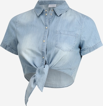 MAMALICIOUS Bluse 'MLHAYLE S/S CROPPED SHIRT A.' in blau, Produktansicht