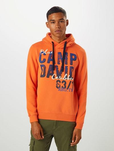 CAMP DAVID Sweat-shirt en orange: Vue de face