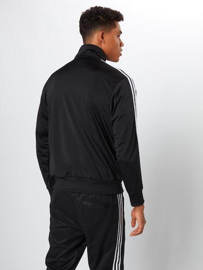 ADIDAS ORIGINALS Sweatvest 'Firebird' in de kleur Zwart / Wit: Achteraanzicht