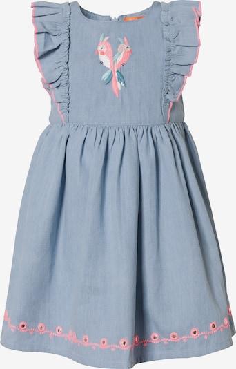 STACCATO Kleid in rauchblau / petrol / pink / weiß, Produktansicht