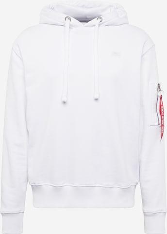 ALPHA INDUSTRIESSweater majica 'X-Fit' - bijela boja