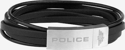 POLICE Armband 'Gozo, PJ26345BLSB.01-L' in schwarz / silber, Produktansicht