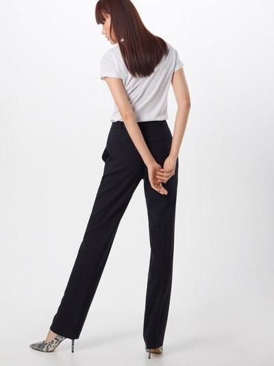 HUGO Pantalon à plis en noir: Vue de dos