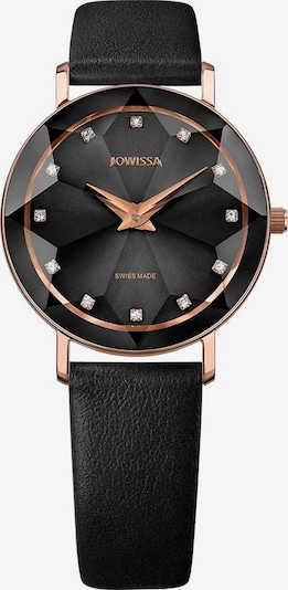 JOWISSA Quarzuhr 'Facet' Swiss Ladies Watch in rosegold / schwarz, Produktansicht