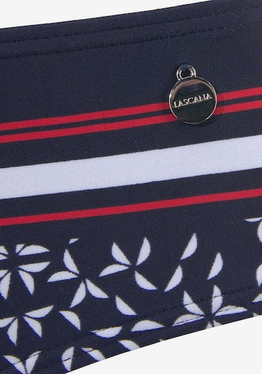 LASCANA Bikini donji dio 'Minimal' u mornarsko plava / crvena / bijela, Pregled proizvoda