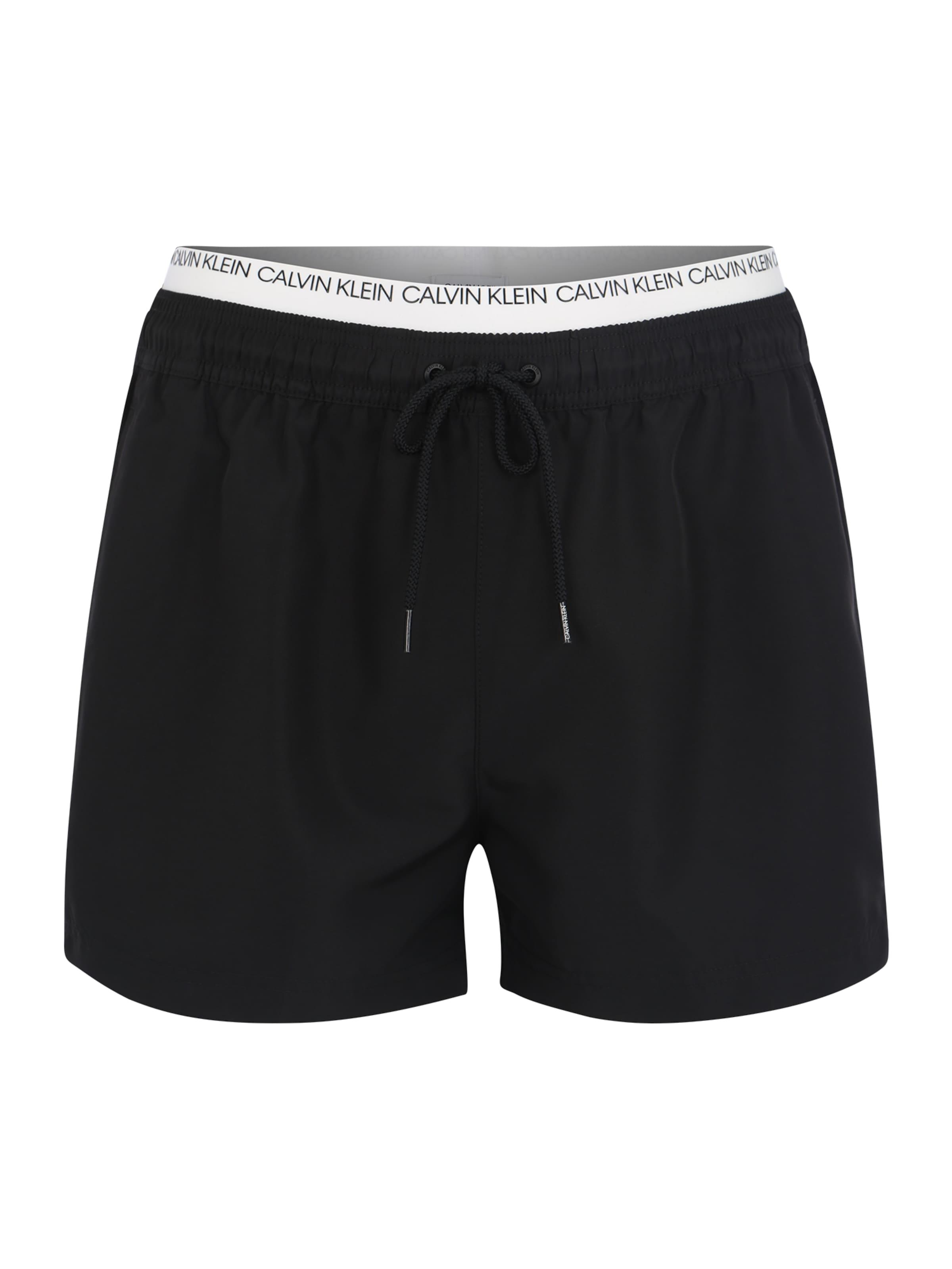 Klein Schwarz Waistband' 'double Badeshorts Swimwear In Calvin 5qc43LjSAR
