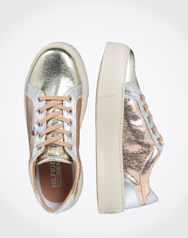 Tommy Jeans Sneaker in Metallic-Optik