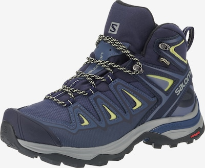 SALOMON Boots 'X ULTRA 3 MID GTX' in Blue / Grey / Lime / Black, Item view