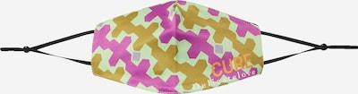 DELICATELOVE Stoffen mondkapje 'CURE' in de kleur Groen / Pink, Productweergave