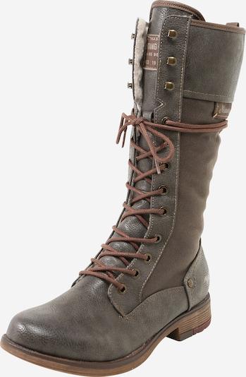 MUSTANG Čizme sa vezicama u tamo siva, Pregled proizvoda