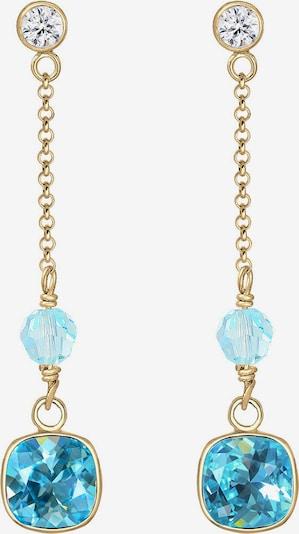 ELLI PREMIUM Ohrringe in blau / gold, Produktansicht