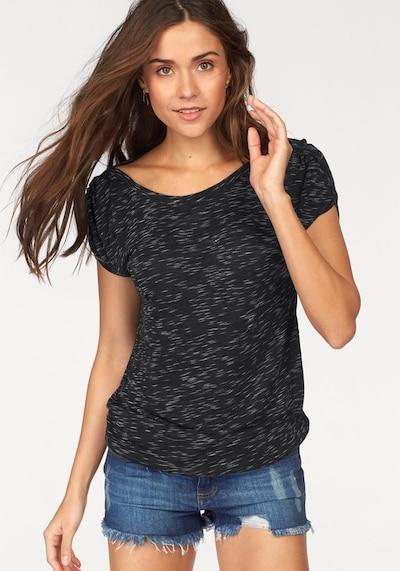 LASCANA T-Shirt in nachtblau / graumeliert, Modelansicht
