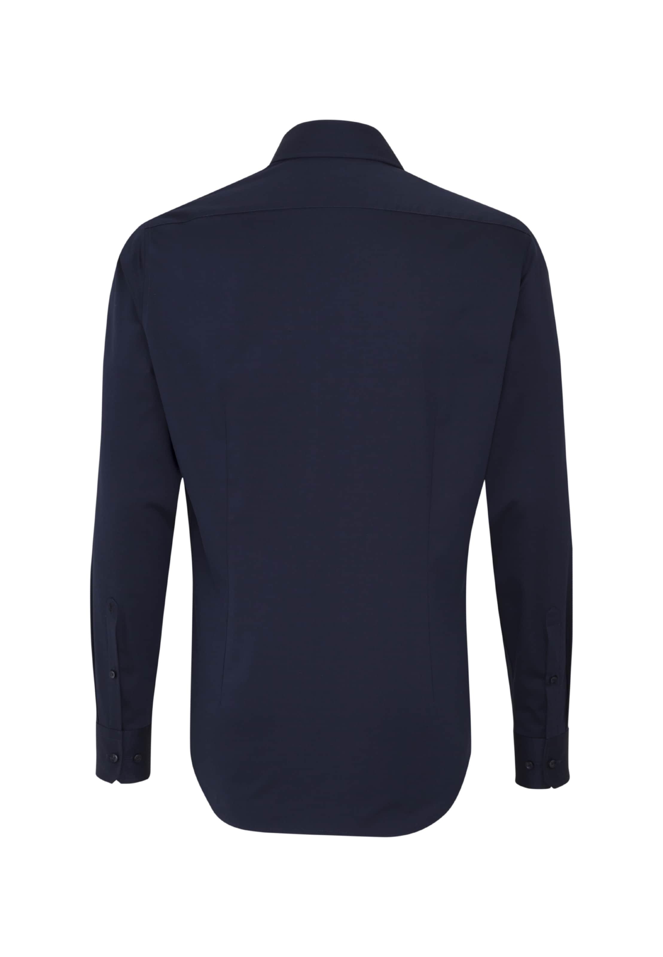 Hemd slim' Nachtblau Seidensticker In 'x EH2IW9D