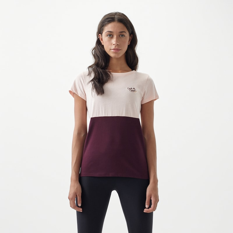 'lw Colour T shirt Block' O'neill En RoseBourgogne sCdxBQrth