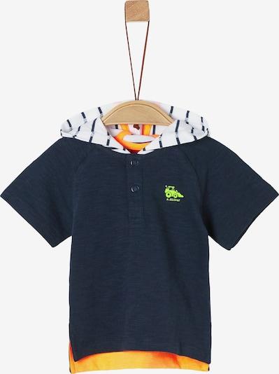 s.Oliver T-Shirt in navy / gelb / orange / weiß, Produktansicht